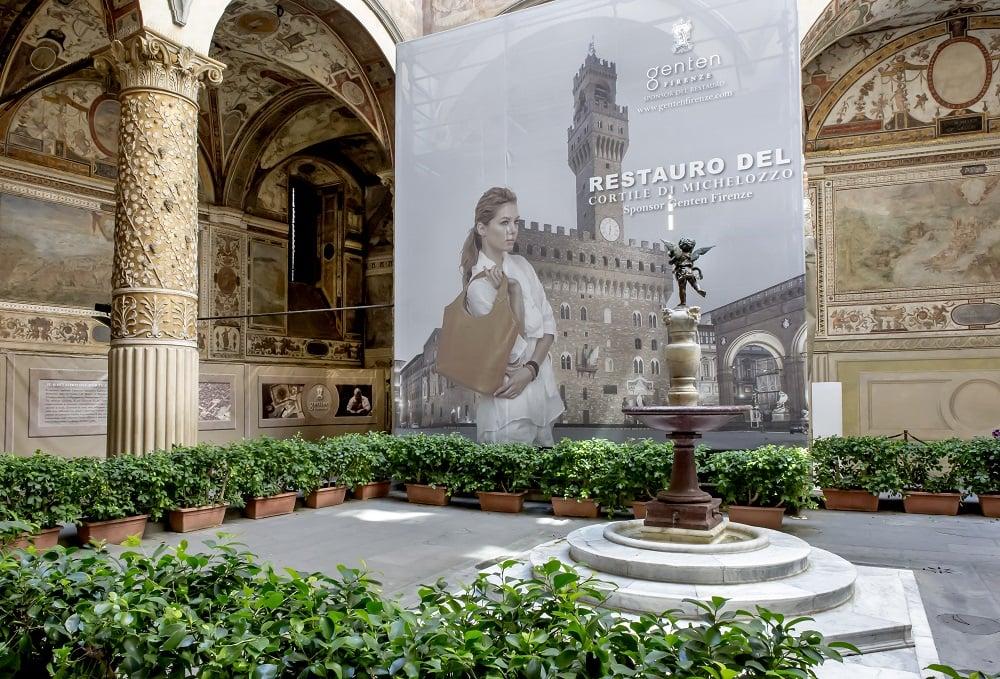 ''La bellezza oltrepassa il tempo''  –   Genten celebra l'avanzamento dei lavori di restauro del Cortile di Michelozzo