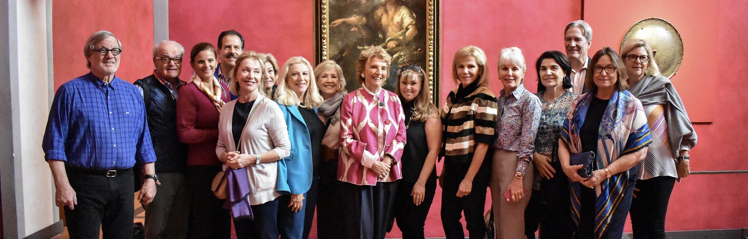 I Friends of The Uffizi visitano la Galleria con il direttore Eike Schmidt e la presidente Maria Vittoria Rimbotti