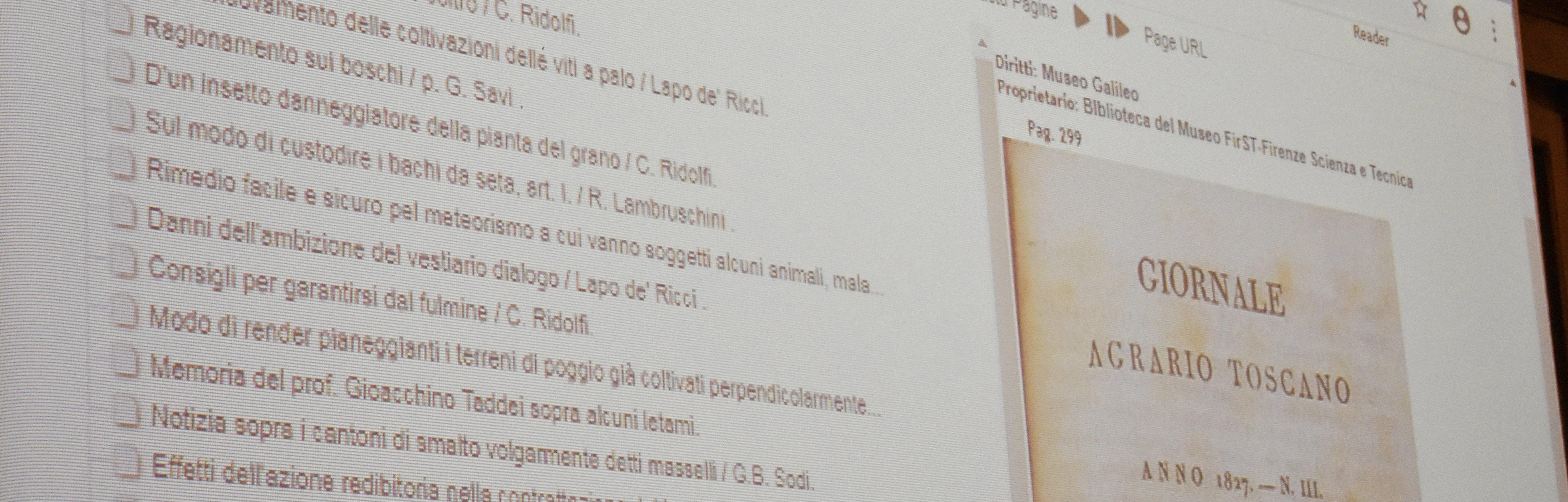 Fondazione Scienza e Tecnica: presentato il Giornale Agrario online