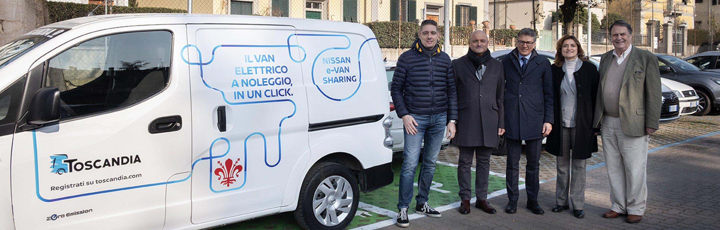 """""""E-Van Sharing"""", debutta a Firenze il servizio di trasporto merci elettrico condiviso"""