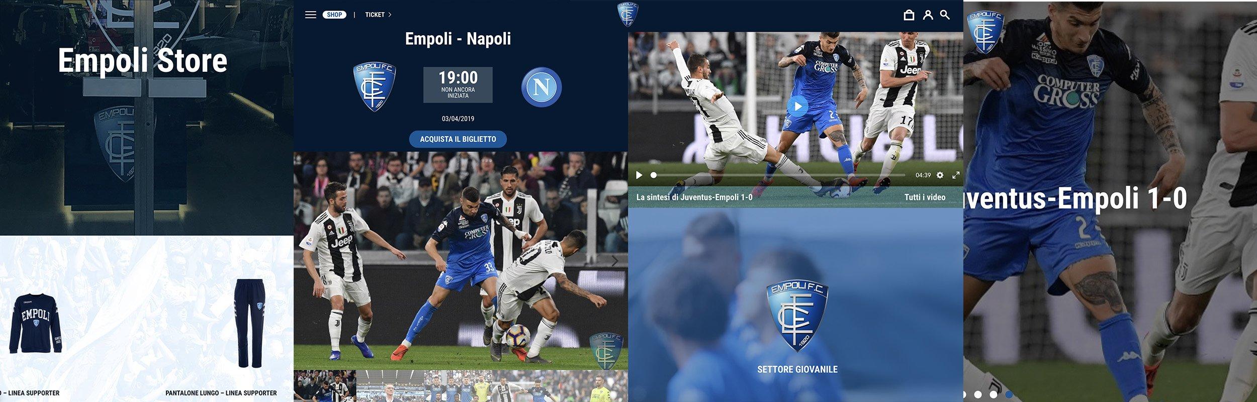 Inspira lancia il nuovo sito dell'Empoli Calcio