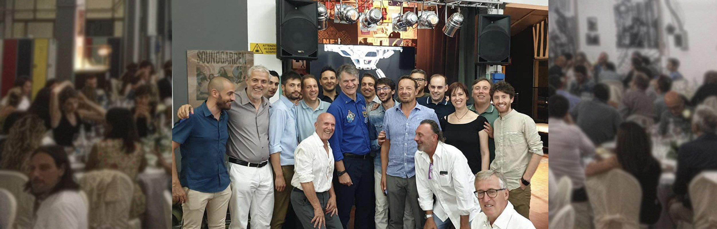 L'astronauta Paolo Nespoli ospite d'onore alla festa dei 38 anni del Gruppo El.En.
